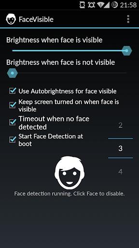 FaceVisible Screen Brightness