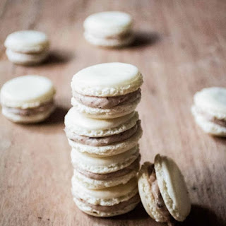 Chocolate Chip Cookie Dough Macarons