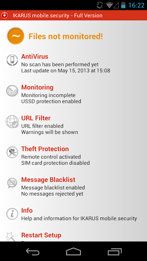 IKARUS mobile.security - screenshot