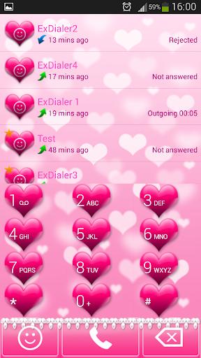 ExDialer粉红色的心