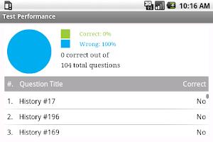 Screenshot of SAT II World History Exam Prep
