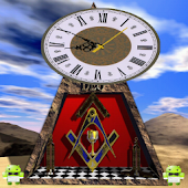 Masonic Desk Clock Pyramid