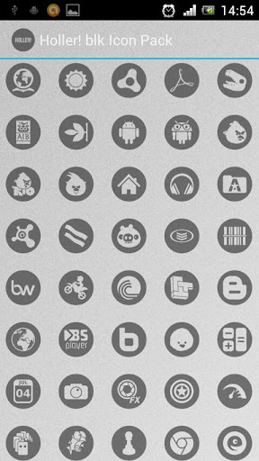 Holler blk Icon Pack
