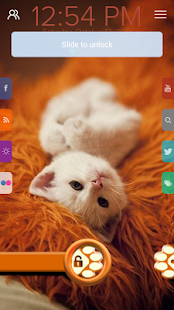 Cute Cat - Start Theme - screenshot thumbnail
