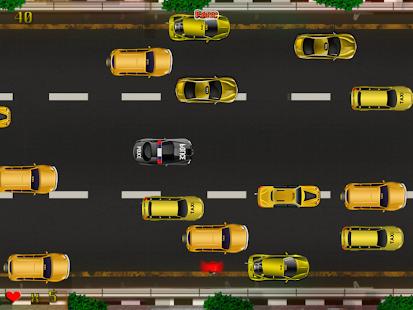 警方緊急車輛搶車:New-York酒店的出租車堵車的瘋狂