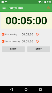 Footy Timer- screenshot thumbnail