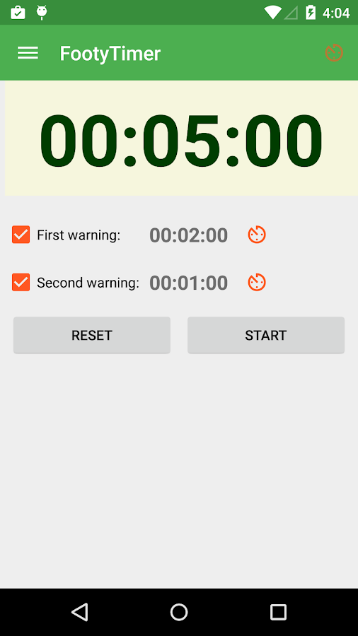 Footy Timer- screenshot