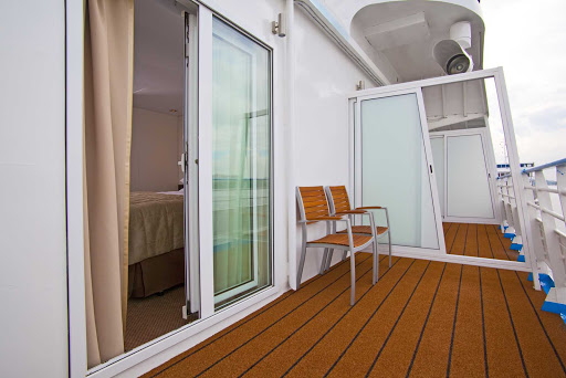 Scenic-Tsar-Bedroom-Balcony - Quick access from the bedroom to a private balcony is something you'll enjoy onboard a Scenic Tsar sailing.