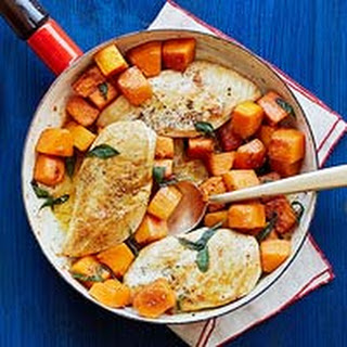 Skillet Chicken with Butternut Squash and Sage