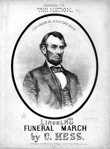 Lincoln's funeral march: performed by Menter's Band by C. Hess