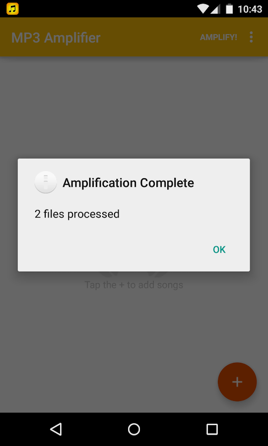 MP3 Amplifier - screenshot