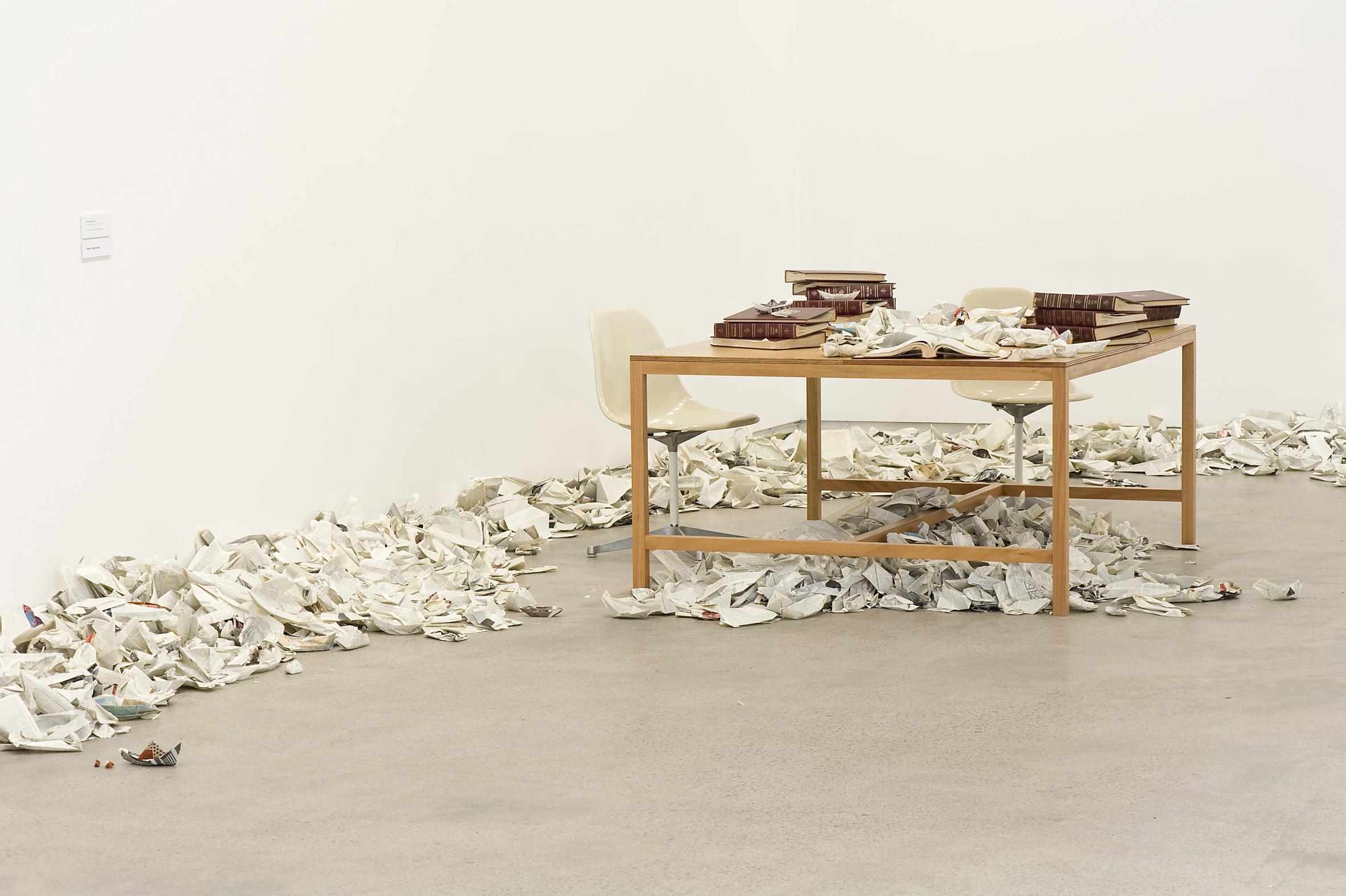 Simryn Gill (1959, Singapore) Paper Boats, 2008