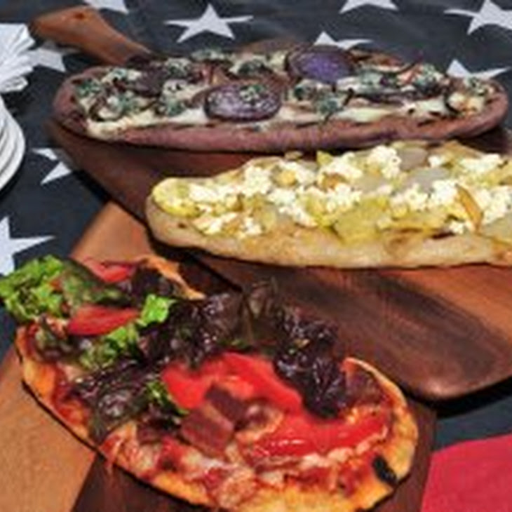 Grilled Blue Pizza