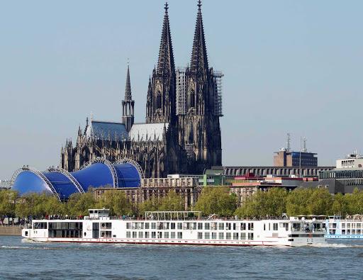 Viking-Njord-Cologne - The river cruise ship Viking Njord in Cologne, Germany.