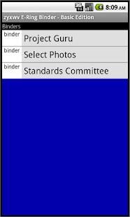 zyxwv E-Ring Binder - Basic Ed - screenshot thumbnail