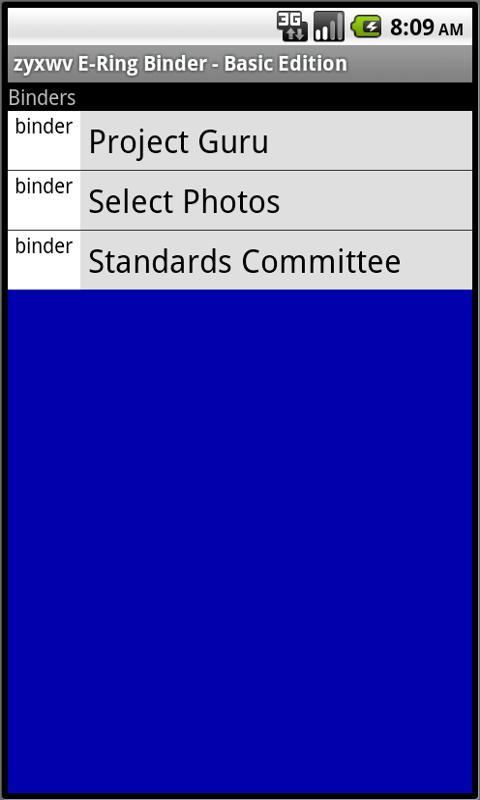 zyxwv E-Ring Binder - Basic Ed - screenshot