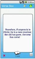 Screenshot of Verse Box Scripture Memory