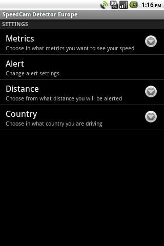 SpeedCam Detector Australia - screenshot