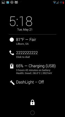 LastCaller Dashclock Extension - screenshot