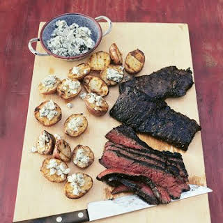 Grilled Steak With Blue Cheese Potatoes.