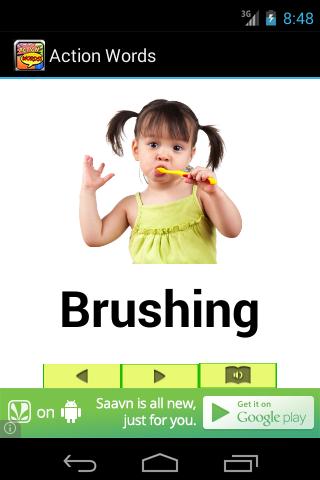 Action Words Pre-k Preschool