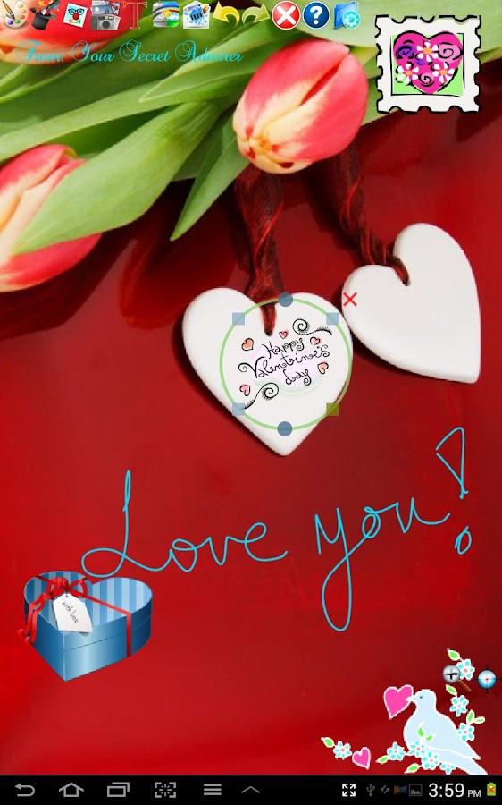 Love Stickers! for Doodle Text- screenshot