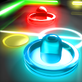 Glow Hockey 2 APK for Bluestacks