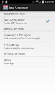 Screenshot of SMS Announcer