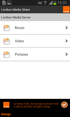 Livebox Media Share - screenshot
