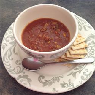 Quick, Homemade Hamburger Soup.