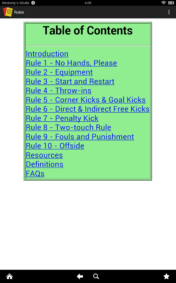 Simple Soccer Rules- screenshot