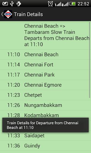 Chennai Local Train Timetable 2.7 screenshots 4