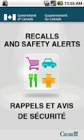 Screenshot of Recalls and Safety Alerts