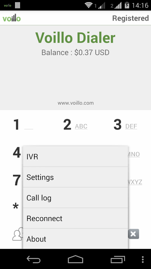 VoilloDialer- screenshot