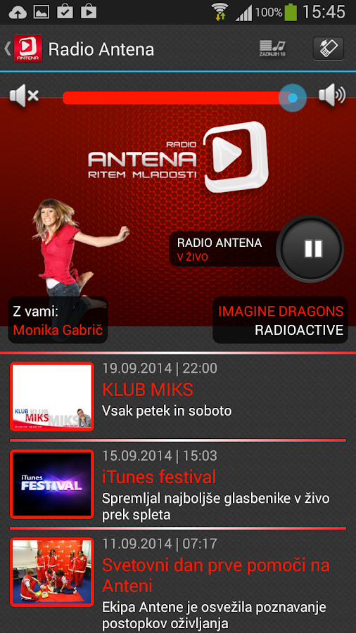 Radio Antena- screenshot