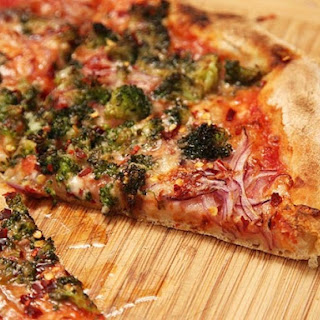 Caramelized Broccoli and Red Onion Pizza