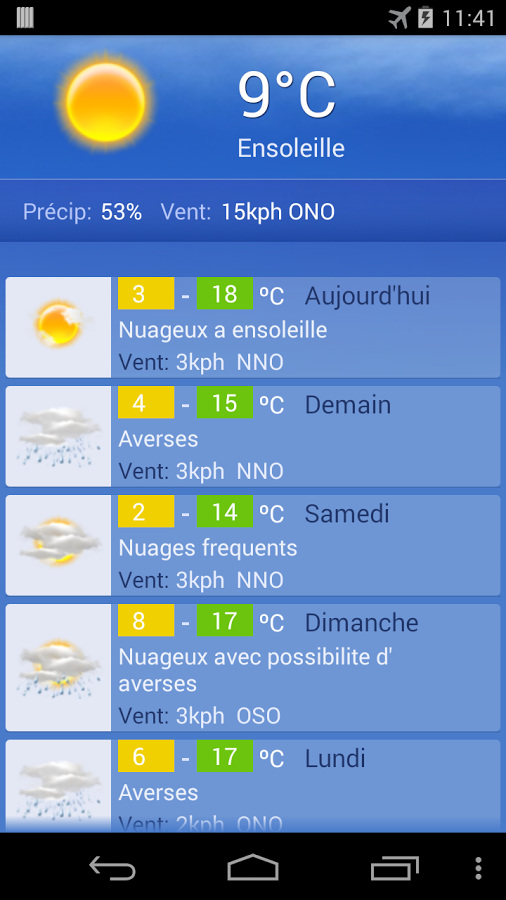 Meteo Geneve Screenshot