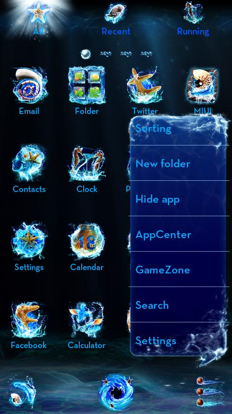 Oceanus GO Launcher Theme - screenshot