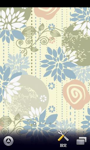 retro floral wallpaper ver217