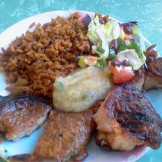 Mesquite Grilled Pork Chops with Apple Salsa.
