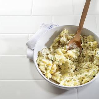 Horseradish Smashed Potatoes