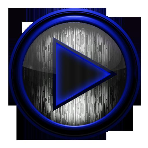 Poweramp skin STEEL of I. BLUE