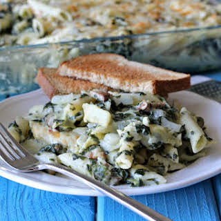 Spinach and Artichoke Dip Pasta.