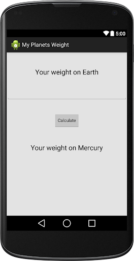 My Planet Weight