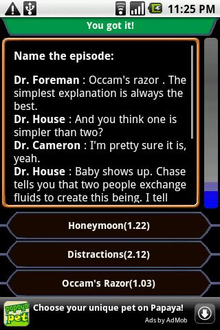 House - QuoteTrivia - screenshot