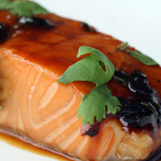 Maple and Soy-Glazed Salmon with Garlic and Ginger