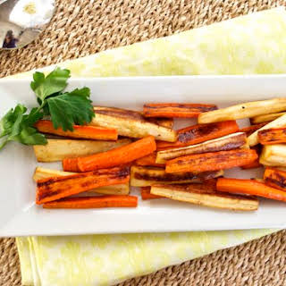 Maple Roasted Carrot and Parsnip Fries.