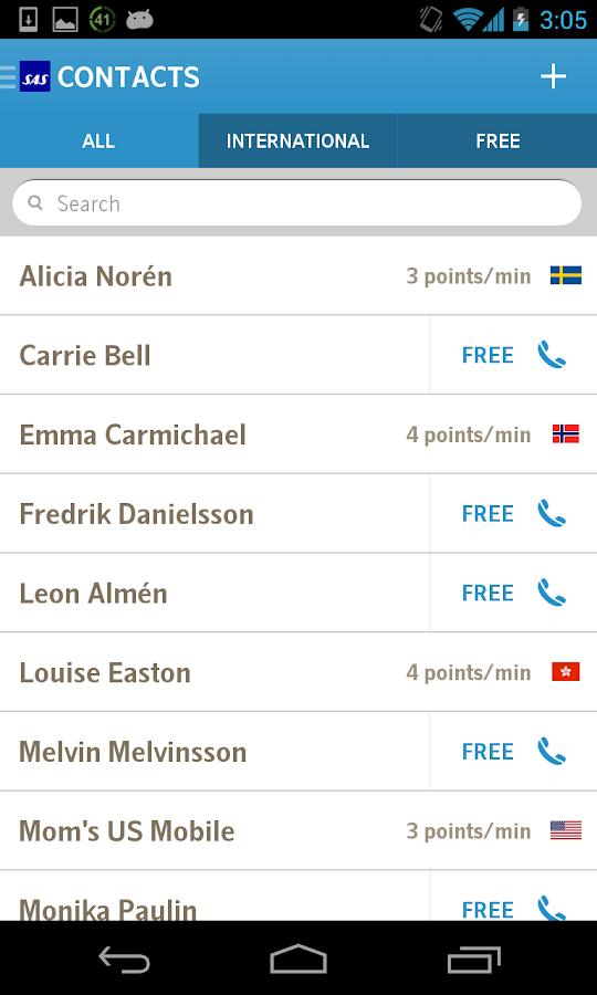 EuroBonus Connect- screenshot