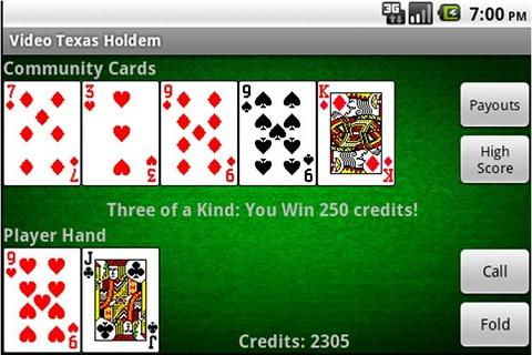 free texas holdem app against computer