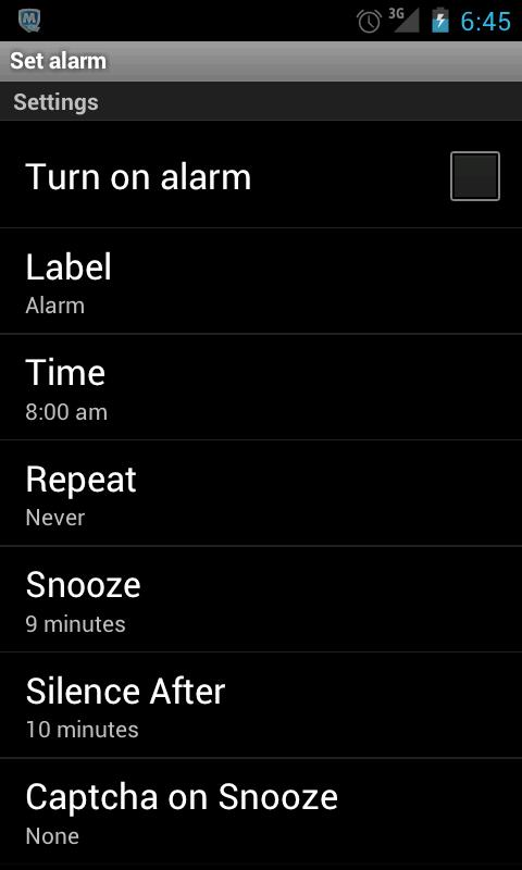 Alarm Clock - screenshot